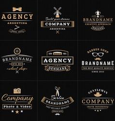 Set of Hipster Vintage Labels Logotypes Badges for vector