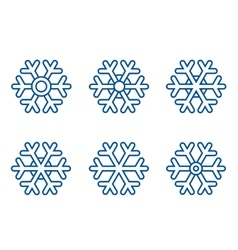 Set of snowflake icons vector