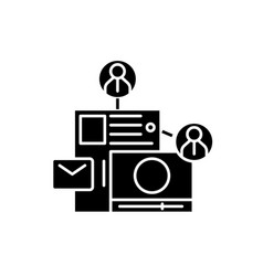share content black icon sign on isolated vector image