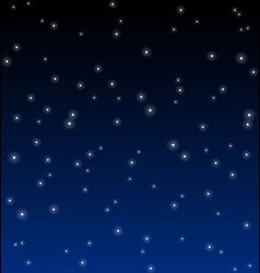 simple starry night vector image