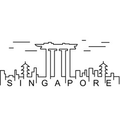 singapore outline icon can be used for web logo vector image