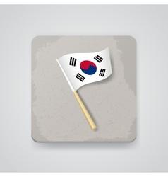 South Korea flag icon vector image