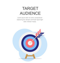 Target audience concept flat background vector