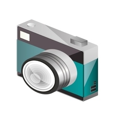 tech digital camera with flash vector image