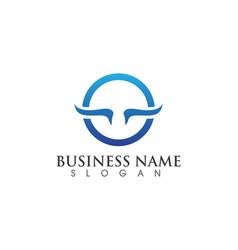 - technology circle logo and symbols vector image