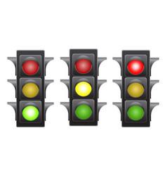 traffic light stock vector image