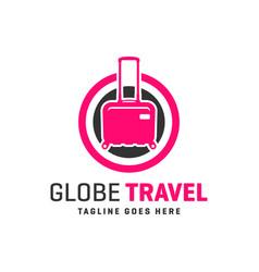 travel agency logo around world vector image