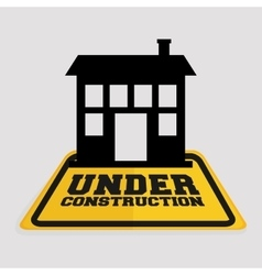 Under construction house building real state vector