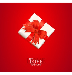 Valentines gift background vector
