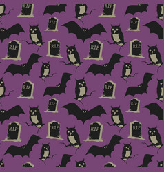 vintage halloween background seamless pattern vector image