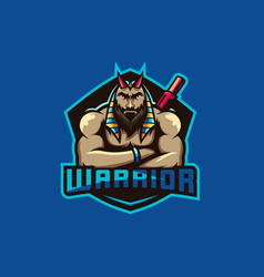 Warrior logo for squad gaming vector