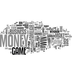 wise player wins the game text word cloud concept vector image vector image