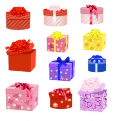 gift box packs vector image vector image