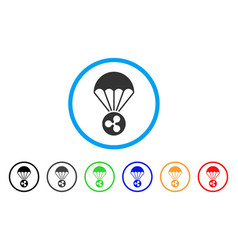 ripple parachute rounded icon vector image vector image