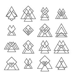 Set of trendy geometric shapes Geometric icons for vector image vector image