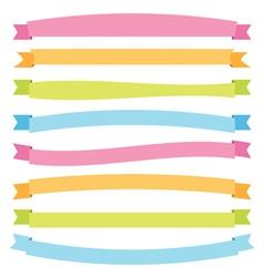 banner ribbons vector image vector image