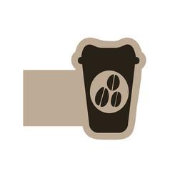dark contour coffee espresso icon vector image