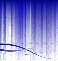 Hexagonal Business Background vector image vector image