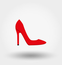 high heel shoes icon flat vector image