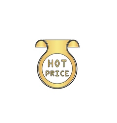 Hot price computer symbol vector image