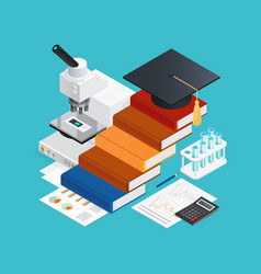 learning isometric design concept vector image vector image