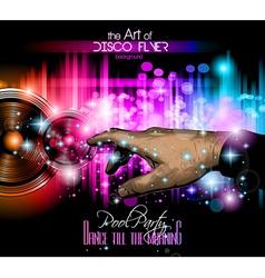 The Art of Disco Flyer vector image