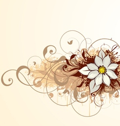 abstract floral design vector image vector image