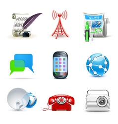 communicatio icons | bella 2 vector image vector image