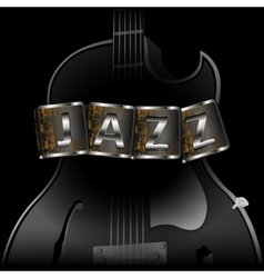 guitar with the words jazz vector image