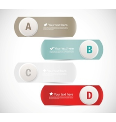 Abstract banners with circles vector image vector image