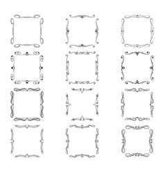 bunch of simple and elegant square frames design vector image