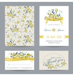 Invitation or Congratulation Card Set vector image vector image