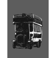Retro automobile vector image