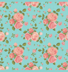 seamless pattern of blooming roses vector image vector image