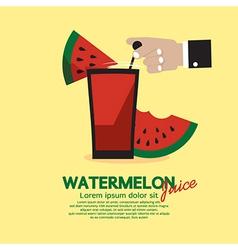 Watermelon Juice vector image