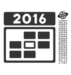 2016 date icon with people bonus vector