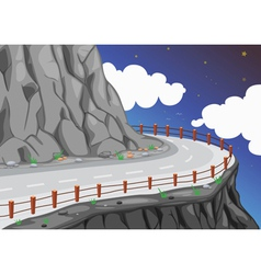 a road on the mountain edge vector image vector image