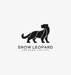 abstract leopard black color concept vector image
