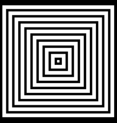 abstract of square pyramid black and white vector image