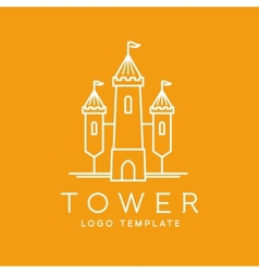 abstract tower outlined logo template vector image