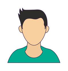 Avatar faceless male profile vector
