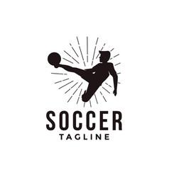 badge football soccer sport team league logo vector image