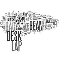 Bean bag lap desk text word cloud concept vector
