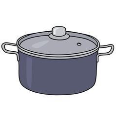 Blue steel pot vector