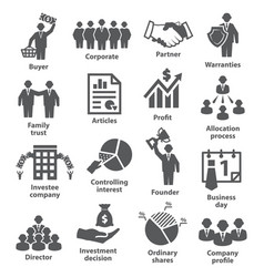 business management icons pack 38 vector image