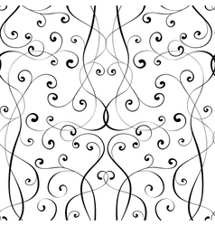 Calligraphy penmanship seamless background vector