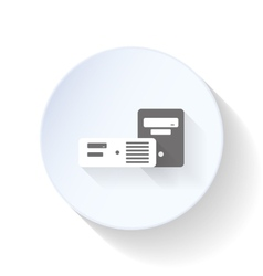 Chassis for desktop computers flat icon vector