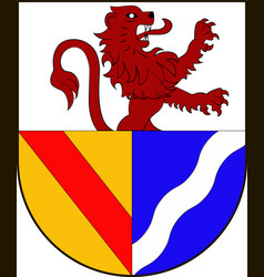 coat of arms of lorrach in baden-wuerttemberg vector image