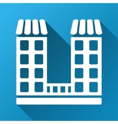 Company Building Gradient Square Icon vector