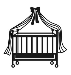 cot icon simple style vector image